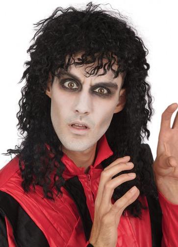 80's Superstar Michael Jackson - Black Curly Wig