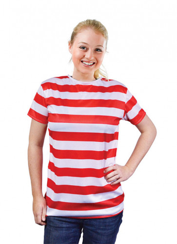 Waldo Red & White Striped T-Shirt Costume