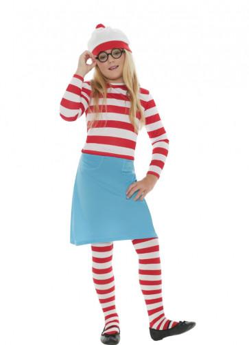 Where's Wally Wenda (Girls) Costume