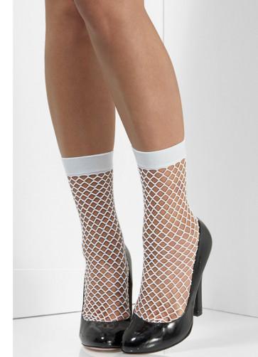 80s White Fishnet Socks