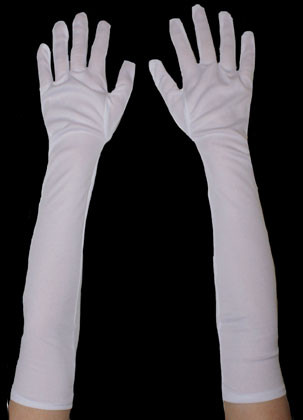 Gloves Long Plain Matt (White)