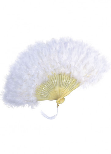 White Feather Fan