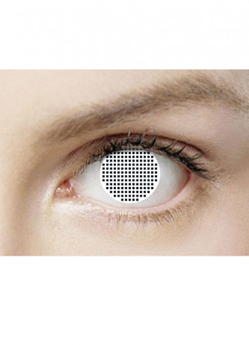White Mesh Contact Lenses - 30 Day Wear