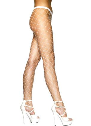 White Diamond Fishnet Tights - Dress Size 6-18
