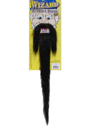 Wizard Beard & Tache Set (Black)