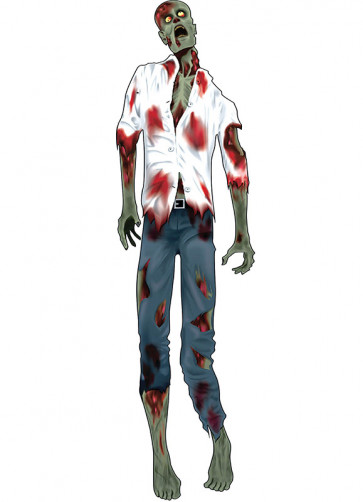 "60"" Zombie Man Shirt Jointed Cut Out"