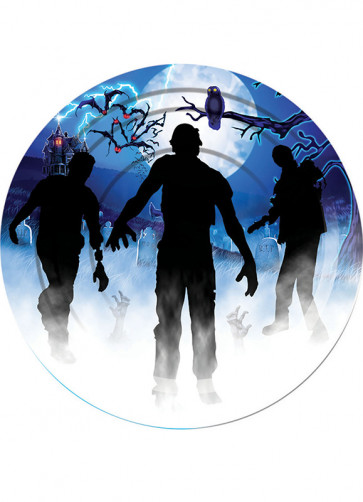 Zombie Small Paper Plate (8 Pack)