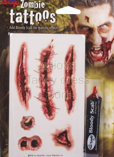 Zombie Supertoos Scar Tattoo Transfer #3