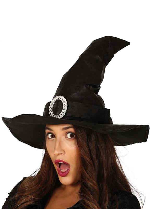 Leather-Look Witch Hat
