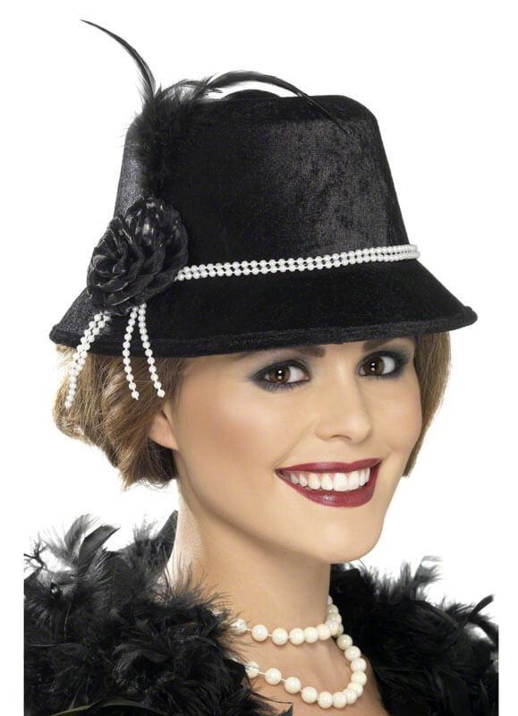 17095508fd542 1920 s Flapper Cloche Hat (Pearl). Zoom