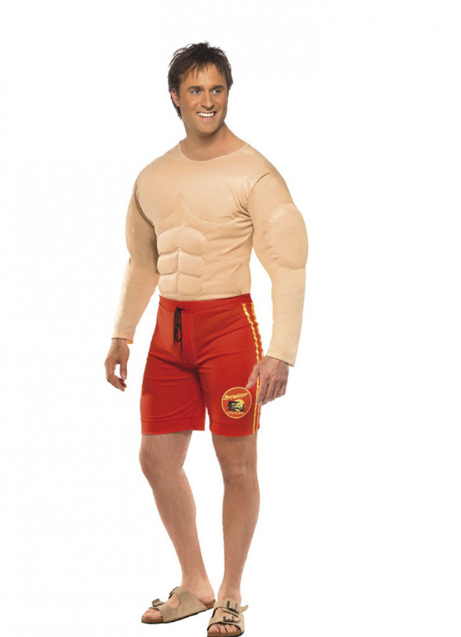 Baywatch Muscles Lifeguard Hoff Costume