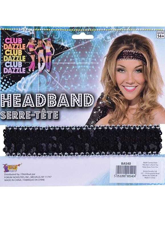 Black Sequin Headband. Zoom 9b3483f352e