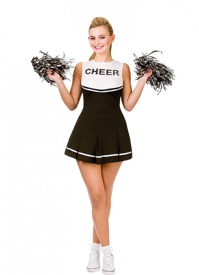 High School Cheerleader Black Amp White Costume