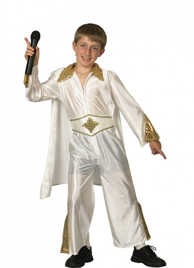 sc 1 st  Elliotts Fancy Dress & The-King - 1950u0027s Rockstar (Boys) Costume