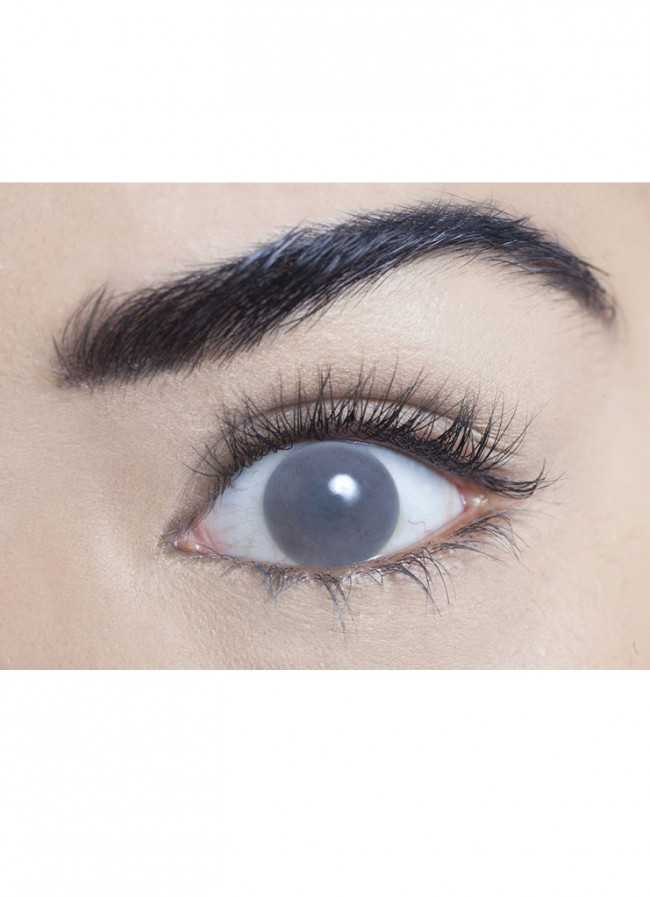 Grey Blind Contact Lenses One Day Wear Halloween