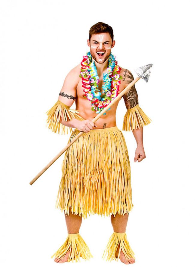 14793522eb82 Hawaiian Party Guy/Warrior Costume. Zoom