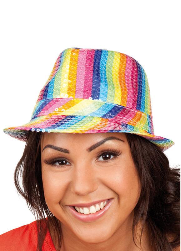 9a301a8c456480 Rainbow Fedora Hat (Pride). Zoom