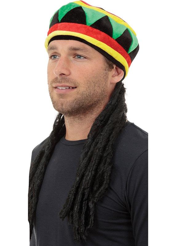 Rasta Hat With Hair. Zoom e13298918016