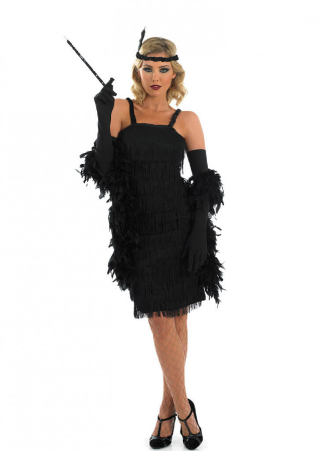 Roaring 20 S Flapper Black Costume