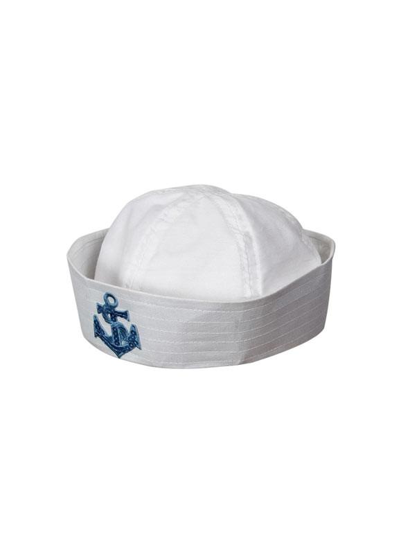 8dd04700e044e Sailor Doughboy Hat – Sequin Anchor – Kids Size. Zoom