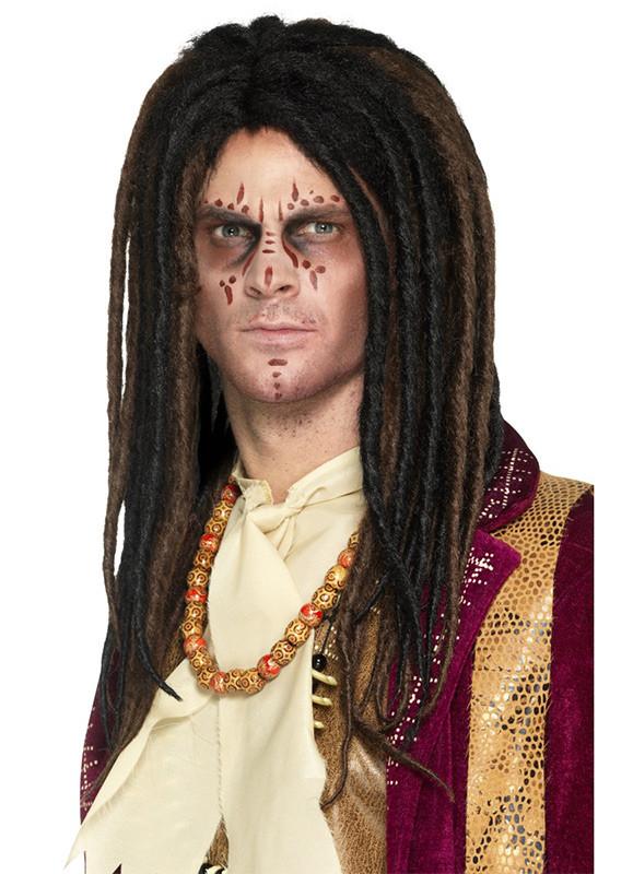 Voodoo Witch Doctor - Brown Dreadlocks Wig