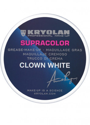 Kryolan Supracolor Clown White 80g NEW STOCK ARRIVING SOON