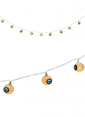 Giant Flashing Eyeballs on String - LED Lights 2.8m