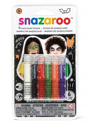Snazaroo Halloween Face Painting Sticks – 6 Pack