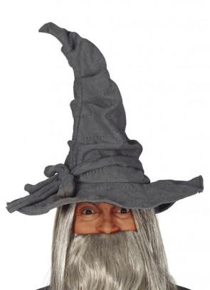 Grey Canvas Wizard hat