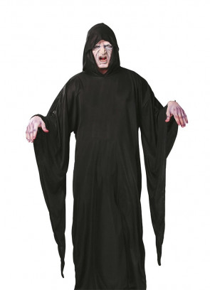 Death Black Hooded Robe - Magical-Lord