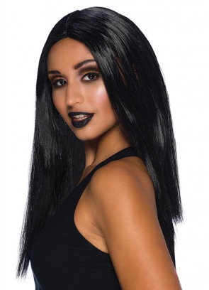 "Long 18"" Wig Black"