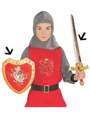 Kids Medieval Dragon Sword 55cm and Shield 27cm