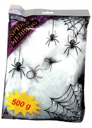Spider Web 500g with Spiders