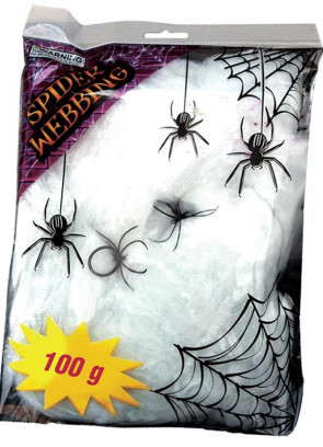 Spider Web 100g with Spiders