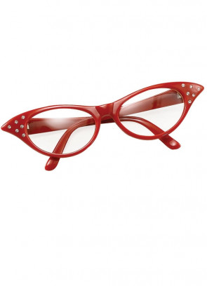 50s Red Poodle Glasses