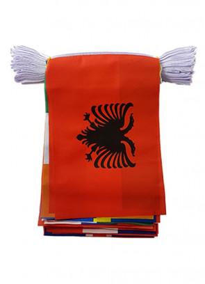 """24 European Nation Cloth Bunting - Euros 6m - 6"""" x 4"""""""