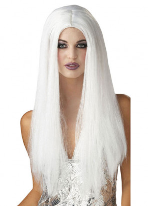 "White 24"" Centre Parting Wig"