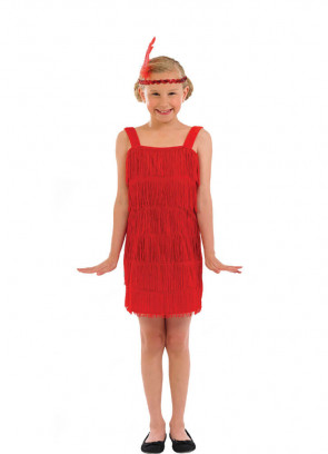 Red Flapper (Girls) Costume