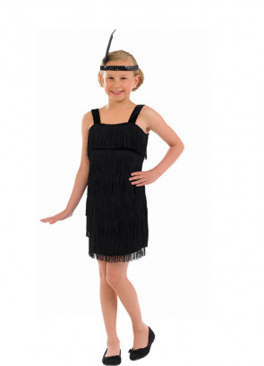 Black Flapper (Girls) Costume