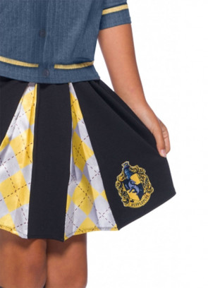 Hufflepuff Pleated Skirt - Girls - Harry Potter