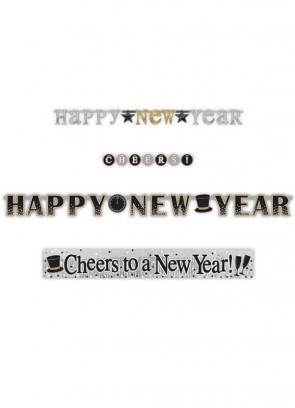 Happy New Year Banner Set