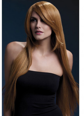 Deluxe Amber Long Straight Wig - Ginger - Styleable