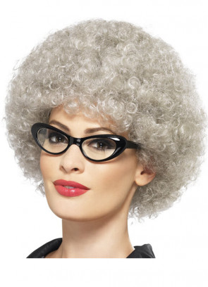 Grey Granny Perm Wig / Mrs Claus
