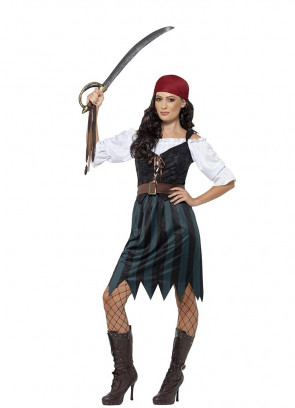 Deckhand Pirate Lady Costume