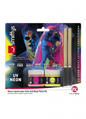 Neon Liquid Latex – Face and Body Paint