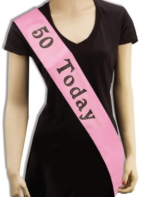 Birthday Sash– 50 Today!