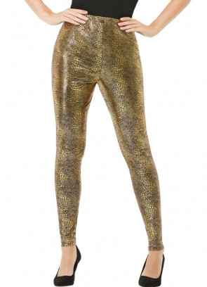 80s Gold Dragon Scale Leggings