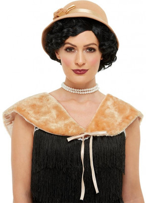 1920s Instant Flapper Kit Beige