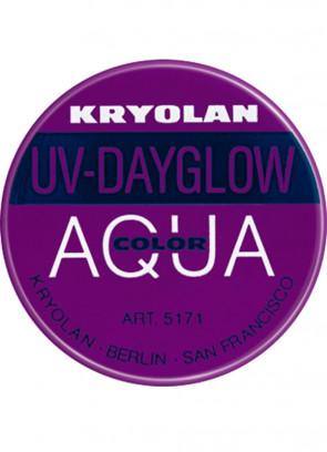 Kryolan UV-Day Glow Aquacolor Purple 8ml Make-Up Body Paint