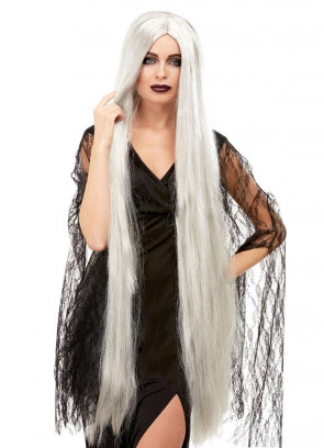 "Extra Long Witch Wig 47"" – Grey"